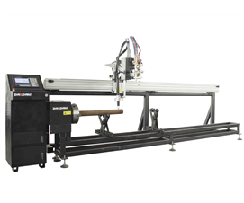 2 AXIS CNC PIPE CUTTING MACHINE